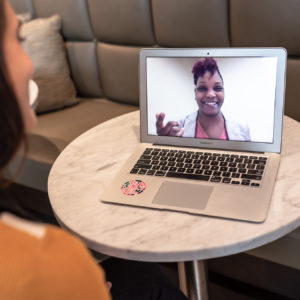 virtual assistant on laptop